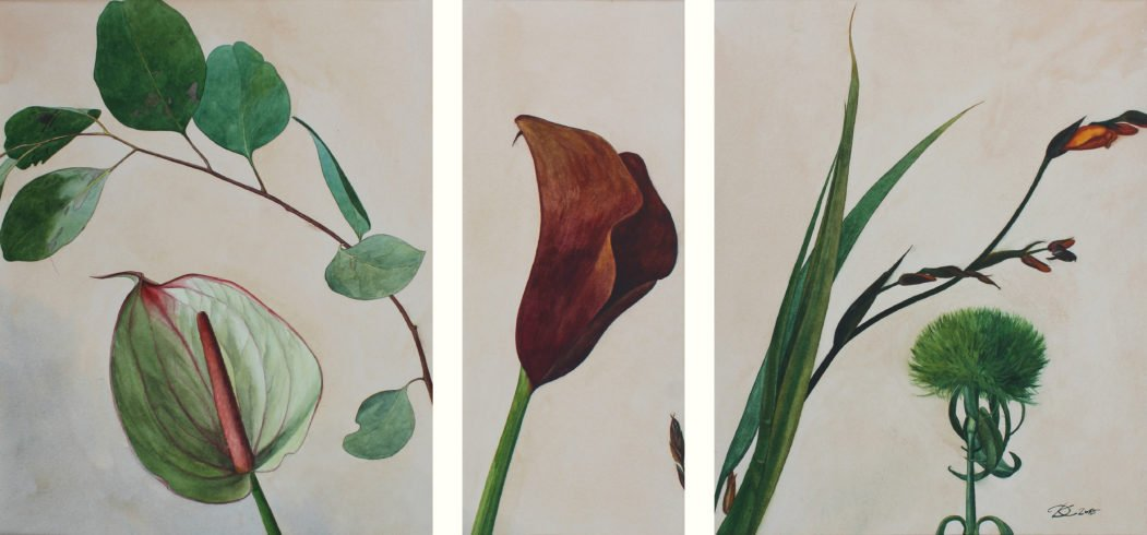 "triptych ""With the Eucalyptus Smell"" Daria Kirichenko. Graphics & art"