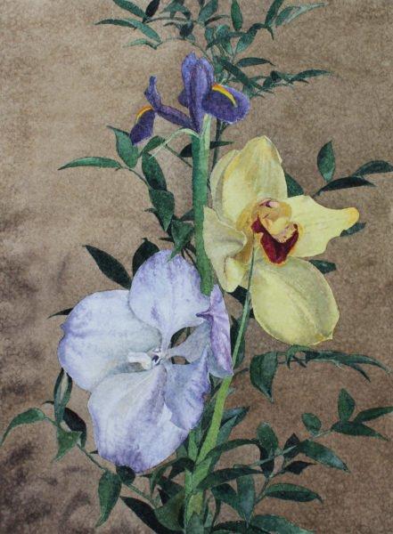 «Контраст фиолетового с желтым» художник Дарья Кириченко