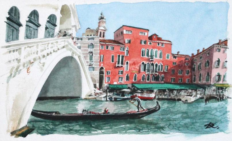 Каналы и мосты. Фрагмент художник Дарья Кириченко