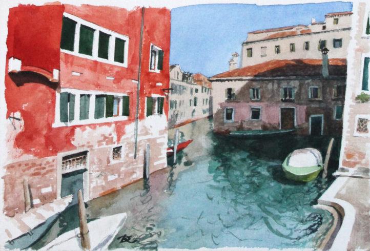 Canals and bridges. Fragment Daria Kirichenko. Graphics & art