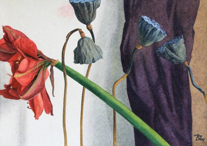 Амариллис и лотосы Amaryllis and lotuses Daria Kirichenko. Graphics & art