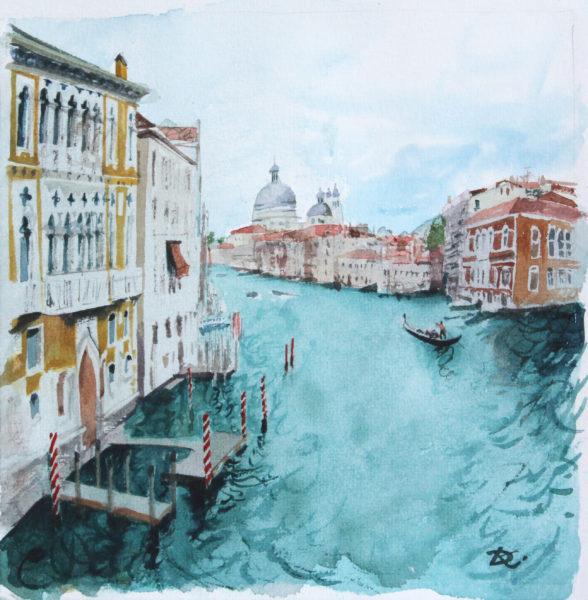 Облачно в Венеции художник Дарья Кириченко