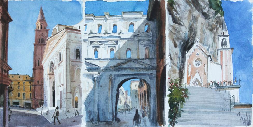 Mantua. Verona. Madonna della Corona Daria Kirichenko. Graphics & art