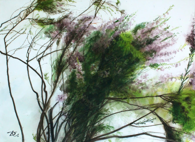 """From the triptych """"Waves of Forest Heather"""" Daria Kirichenko. Graphics & art"""