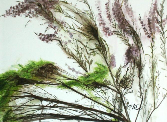 Из триптиха «Волны вереска лесного» художник Дарья Кириченко